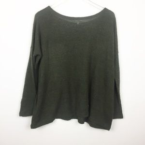 PIKO | Boxy Wide Cut Army Green Sweater